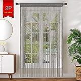 AIZESI 2PCS String Curtain Panel, 90x200cm <span class='highlight'>Door</span> Curtain Fly Screens¡ê?Screens Curtains For <span class='highlight'>Room</span> <span class='highlight'>Divider</span> Home Wedding Decorative