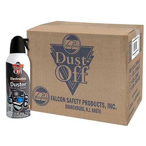 Dust-Off Compressed Gas Duster, 10 oz cans, Pack of 12