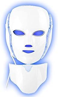 7 Kleuren Led Gezicht Lichttherapie Masker Met Nekmasker, Micro-Elektrische Spectrometer Gezichtsmasker Schoonheidsinstrum...
