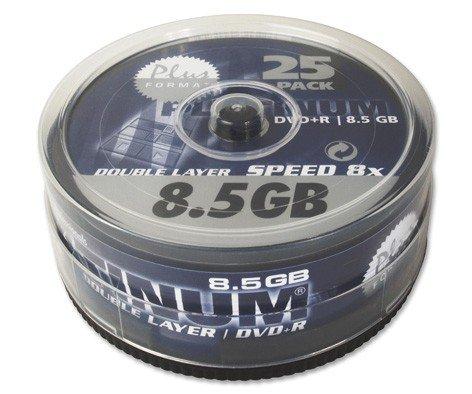 100 (4x 25Stk) Platinum Rohlinge DVD+R DL 8,5GB 8x *Spindel*