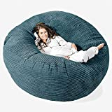 Lounge Pug, 'Mega-Mammoth' Sofa Sitzsack XXL, Schlafsofa, Cord Blaugrün