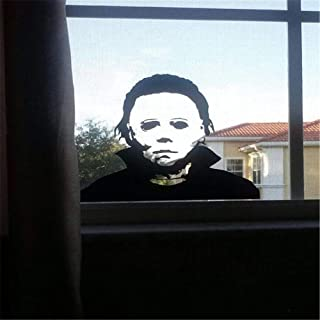 ANGELA Halloween Decals, Michael Myers Desgin, Holiday Horror Sticker, Funny Door Window Mirror Decor, Can Be Used for Home and Art Decoration, 22.420