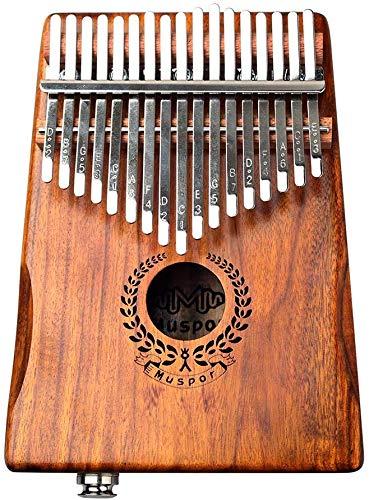 LLDKA 17-Tasten Daumenklavier Thumb Piano-Anschluss Lautsprecher, elektrische Tonabnehmer mit Tasche Kabeltuner und anderem Zubehör, Holz, ideal für Einsteiger