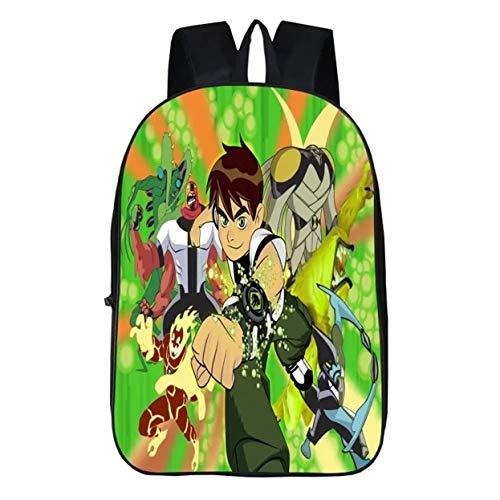 fashion 1938 Kids Students Back to School Ben 10 Backpack Book Bag-Anime Backpack Girls Boys Lightweight Travel Canvas Bag