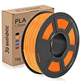 PLA Filament, 1.75mm 3D Printer Filament, Upgrade 2020 PLA 3D Printing 1KG Spool, Dimensional Accuracy +/- 0.02mm, Orange
