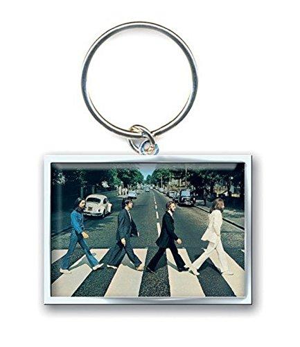 Portachiavi Abbey Road (Metallo Con Foto Rettangolare)