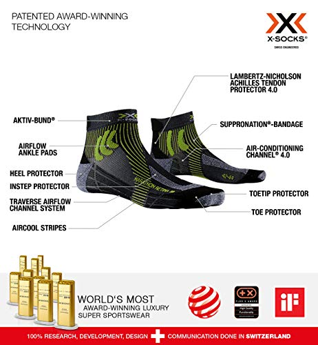 X-Socks Marathon Retina Deportivos Calcetines Correr