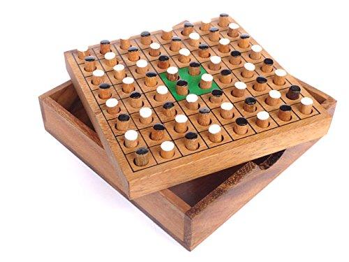 Logica Spiele Art. Othello - Reversi - Brettspiel aus Edlem Holz - Strategiespiel für 2 Personen - Reiseversion