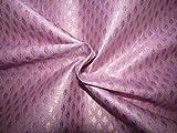 Brokat-Stoff Brokat-Seide Pink Lila Metallic Gold BRO739[5]