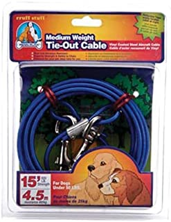 Penn Plax Tie Out Cable for Your Dog, 15-Feet