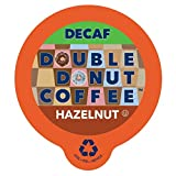 Hazelnut Medium Roast Flavored Decaf Coffee Pods for Keurig K-Cup Makers from Double Donut, 96 Capsules