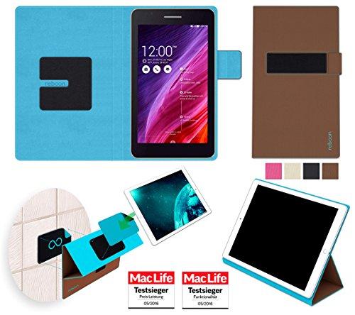 reboon Hülle für Asus FonePad 7 FE171CG Tasche Cover Case Bumper | in Braun | Testsieger