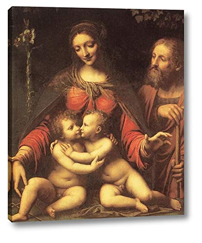 "Holy Family with The Infant St John by Bernardino Luini - 13"" x 16"" Gallery Wrap Canvas Art Print - Ready to Hang"