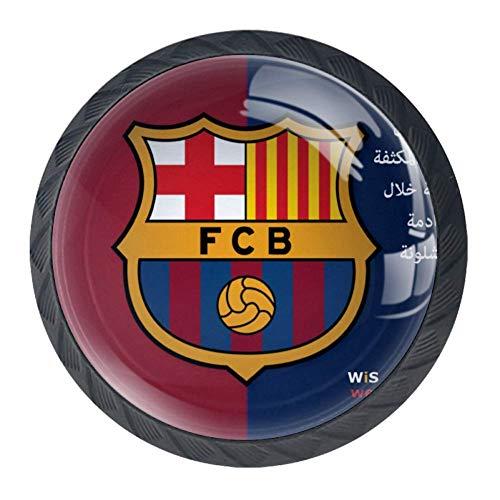Bandera de Barcelona Emblema Perillas de gabinete redondas 4 piezas Tirador de...