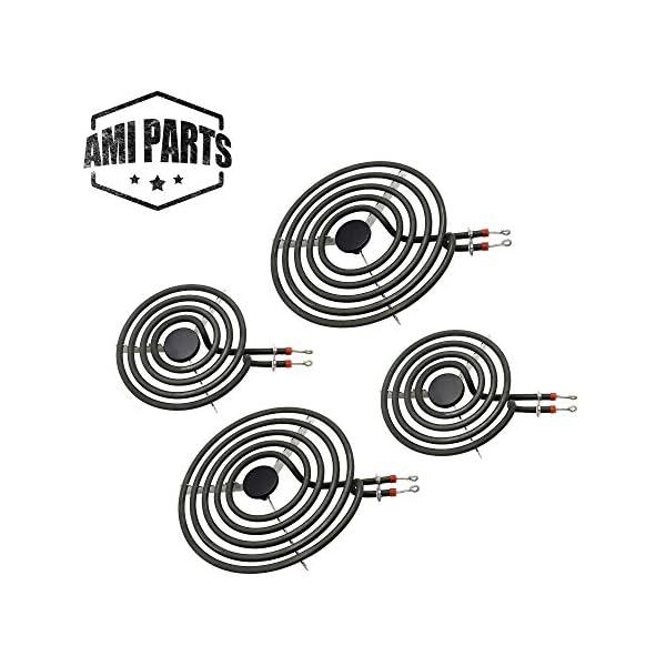 AMI PARTS Electric Stove Burners MP22YA Electric Range Surface Burner Coil Unit Set 2pcs MP15YA 6″ and 2pcs MP21YA 8″ Element Replacement Part