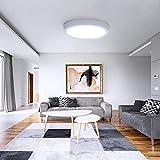 Plafoniera LED Soffitto Moderno 24W 2200LM UFO Pannello LED Rotondo Bianco Freddo 6000K in Alluminio Pressofuso Copertura, Adatto per Cucina Bagno Camera da Letto Corridoio e Ufficio Ø30cm OUSFOT