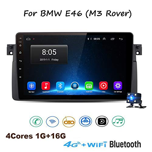 TypeBuilt Android 8.1 8 Pulgadas con Pantalla Táctil De Radio para BMW E46 (M3 Rover) con Bluetooth USB WiFi Ayuda SWC TV De Estéreo del Coche con La Cámara De Reserva,4g+wifi1g+16g