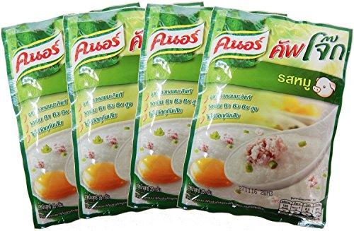 Knorr Cooked Organic Thai Jasmine Rice Porridge Pork 35 Gram Pack of 4