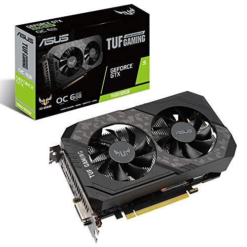 ASUS TUF Gaming NVIDIA GeForce GTX 1660 Super OC Edition, Scheda Video Gaming, Dissipatore Biventola, 6 GB GDDR6, HDMI, DisplayPort, DVI-D per Gaming FullHD
