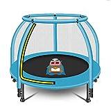 HYM Trampolín para Niños con Red De Seguridad, Adecuado para Niños Pequeños, Regalos De Cumpleaños para Interiores Y Exteriores, Regalos, Juguetes para Trampolín De Jardín para Niños(Color:Azul)