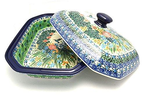 Polish Pottery Baker - Rectangular Covered - Large - Unikat Signature - U3271