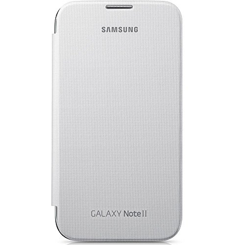 SAMSUNG EFC-1J9FWEGSTD Flip Cover per Galaxy Note 2, Bianco