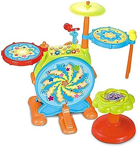 X-Kindertrommel Jazz Drum Größe mädchen Trommeln Elektronische Trommel Früherziehung Musik Spielzeug Musikinstrument Junge Puzzle (Farbe   Bunte)