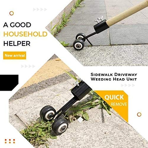 Chezaa Stand Up Weeder Weed Puller, Stainless Steel Tool Manual Weeder Hand Tool Crack and Crevice Weeding for Garden Lawn Weeds Snatcher Eater Brush Cutter Tool