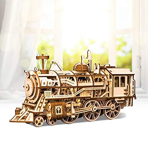 Raguso Fantástico juguete educativo 3D, puzle de locomotora, modelo de montaje, juguete para amigos para los amantes de las manualidades