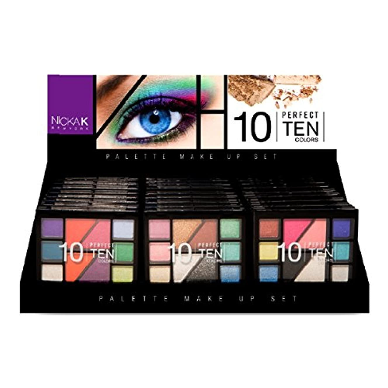 温度計ありがたい入口NICKA K Eyeshadow Perfect 10 colors Palette Display Set 24 Pieces (並行輸入品)