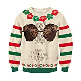 uideazone Unisex Christmas Sweaters Fashion Men Women Warm Longsleeves Shirts Xmas Designs …
