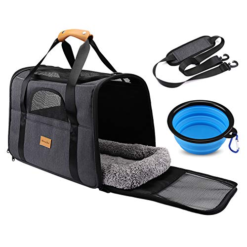 Morstone Sac Transport Chat Chien, Caisse de Transport Chat Respirant...