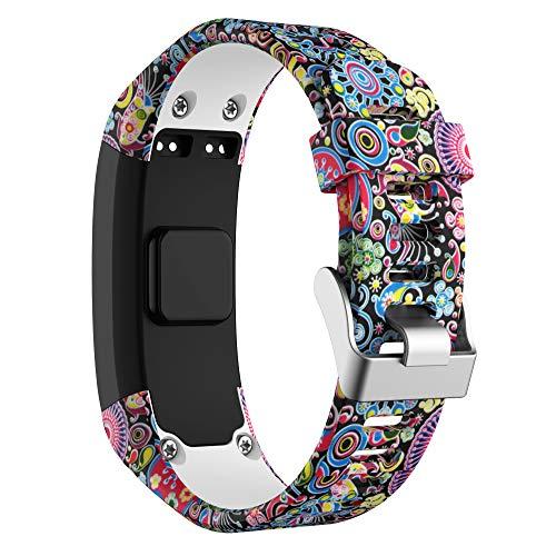 Watch Band for Garmin Vivosmart HR Watch, Songsier Soft Silicone Replacement Strap Sport Wristband Watch Band Sport Strap Compatible with Garmin Vivosmart HR Smartwatches - Multiple Colors