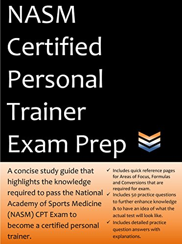 NASM Personal Trainer Exam Prep: 2021 Edition Study Guide that highlights the information required to pass the National Academy of Sports Medicine exam to become a Certified Personal Trainer.
