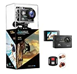 4K Action Camera,Full HD Waterproof DV Camcorde, 2.0 Inch LCD 170° Wide Angle WiFi Sports Cam with Remote and Mounting Accessories Kit