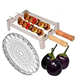 HOTLIFE Premium Tandoor Channi Folding Chhota Gas Tandoor Stand with 2 Sticks and 1 Barbeque Net Gas Grill