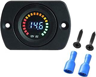 12V LED Panel Digital Voltage Meter Display Voltmeter Color LED Digital Display with Flat Panel Volt Meter Meter Scale Gau...