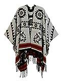 Desigual Poncho_Freedom Reversible Mantón Pashmina, Black, U para Mujer