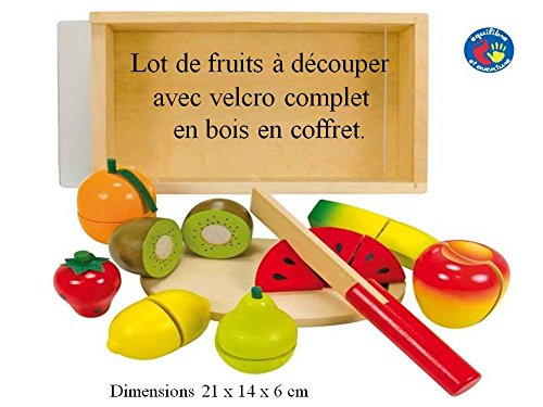 Coffret fruits en bois à découper sans danger - à partir de 18 mois