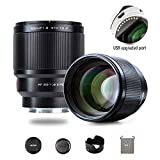 VILTROX 85mm F1.8 II Auto Focus Full Frame Lens for Sony E Mount, STM Large Aperture Medium Telephoto Portrait Fixed Focus Lens for Sony Camera A9 A7R3 A7III A7RIII A7M3 A7S2 A6500 A6300