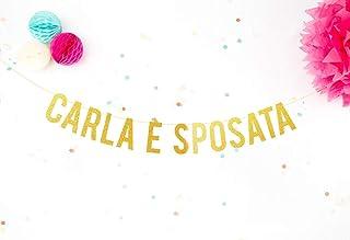 Festoni Addio al Nubilato Festone personalizzato matrimonio Ghirlanda Bachelorette Bandiera glitter matrimonio Lettere gli...
