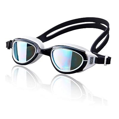 BALNEAIRE Mirrored Swim Goggles, Anti-Fog UV Pr...
