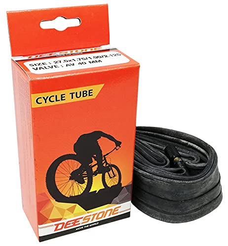 Ecovelò Deestone Camera d'Aria 27.5 x 1.75/1.90/2.125 per Bici valvola Schrader America Bicicletta Mountain Bike City 27,5''