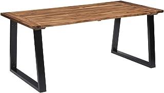 vidaXL Bois d'Acacia Massif Table de Salle à Manger Table de Cuisine Table à Dîner Table de Repas Meuble à Manger Maison I...