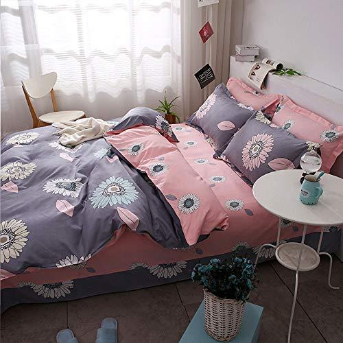LCTCCT El juego de 4 camas súper cómodas y cálidas de la habitación de 4 juegos de fundas nórdicas incluye 1 funda nórdica 1 hoja plana 2 fundas de almohada Adecuado para niños, habitaciones p