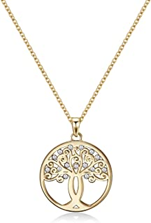 MESTIGE Women Crystal Gold Tree of Hope Necklace with Swarovski Crystals