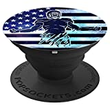 Cool American Football Patriots Blue USA Flag For Men Boys PopSockets Grip and Stand for Phones and Tablets