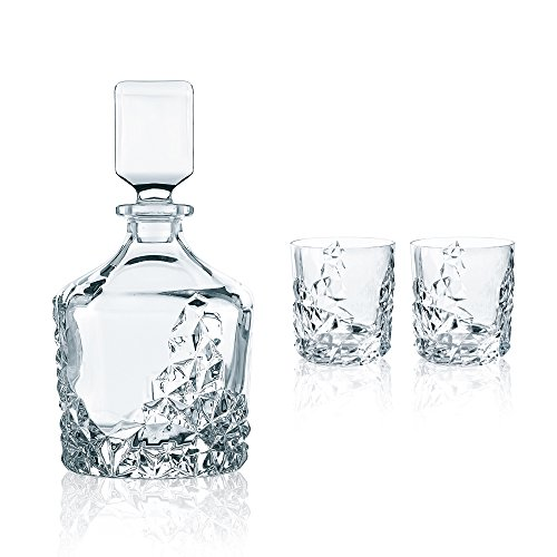 Spiegelau & Nachtmann, 3-teiliges Whisky-Set, Dekanter+ 2x Whisky-Becher, Sculpture, 91900