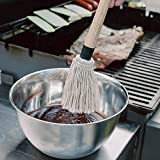 GRILLHOGS BBQ Basting Mop with Wooden Handle, Perfect for Barbecue Grilling, Spreading & Glazing Evenly, 18 Inch, Includes 2 Bonus Mop Head Replacement