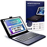 9-10.1 Zoll Tablet Hülle mit Tastatur, Cooper Infinite Executive 2-in-1 kabellose Bluetooth-Tastatur 5magnetisch Reiseetui Schutzhülle Etui Tasche Mappe + 10.1 10 9.7